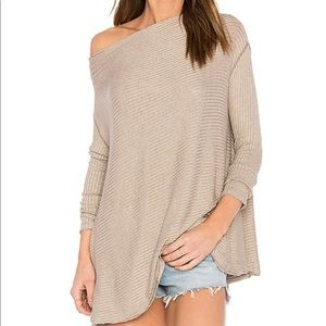 Free People Lover Rib Split Back Top XS